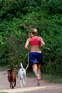 Löpare med hund